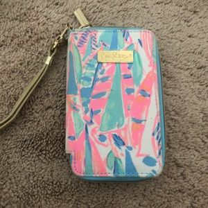 Lily Pulitzer Wristlet with Phone Compartment